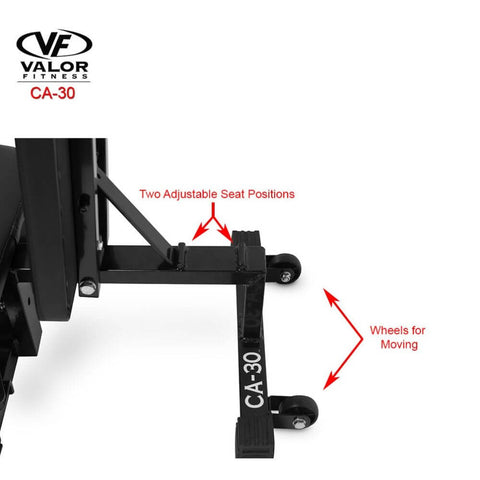 Image of Valor Fitness CA-30 Leg Stretch Machine Adjustable Seat Position