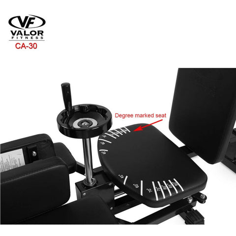 Image of Valor Fitness CA-30 Leg Stretch Machine Degree Marked Seat