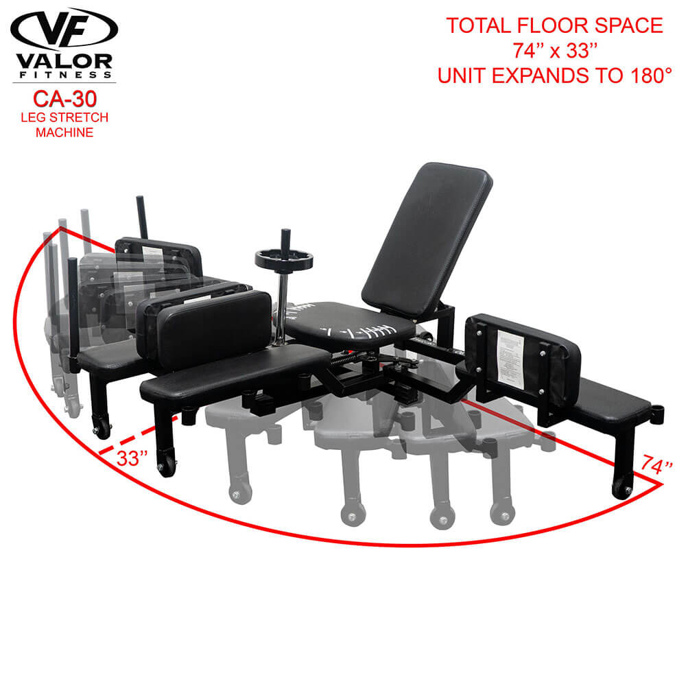 Valor Fitness CA-30 Leg Stretch Machine Floor Space