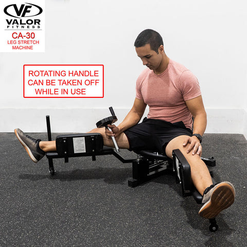 Image of Valor Fitness CA-30 Leg Stretch Machine Rotating Handle