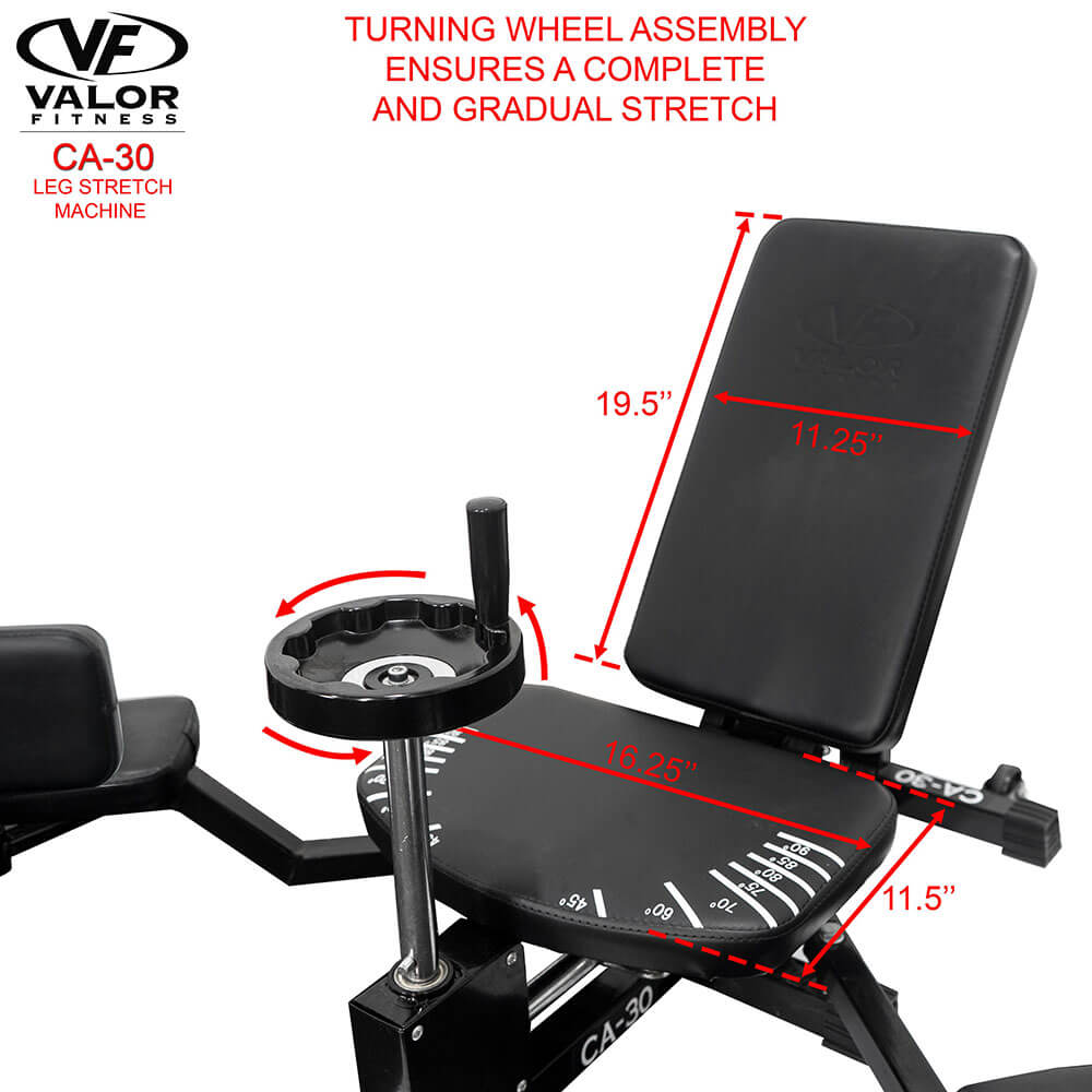 Valor Fitness CA-30 Leg Stretch Machine Turning Wheel