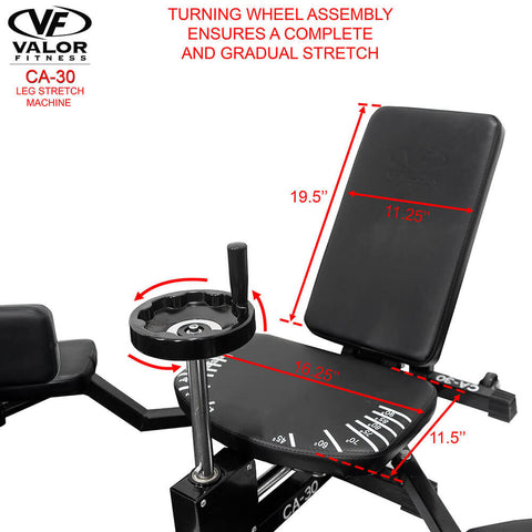 Image of Valor Fitness CA-30 Leg Stretch Machine Turning Wheel