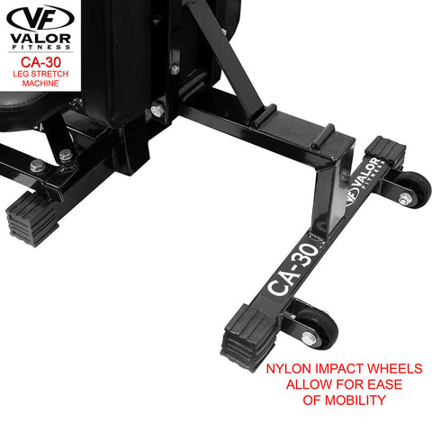 Image of Valor Fitness CA-30 Leg Stretch Machine Wheels