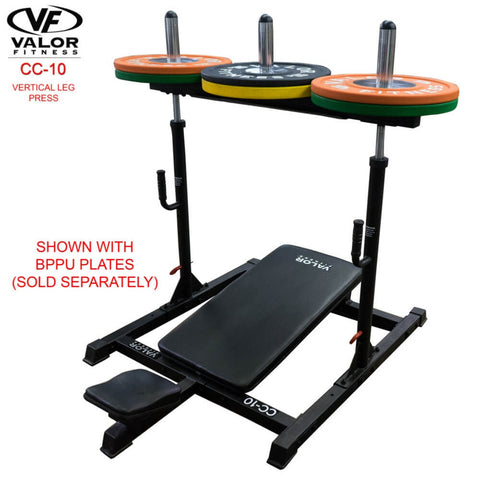 Image of Valor Fitness CC-10 Vertical Leg Press 3D View With BPPU Plates