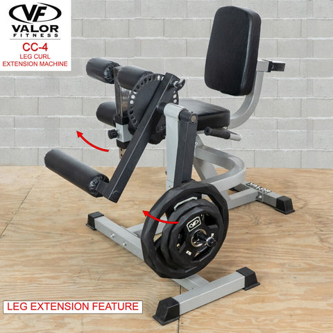 Image of Valor Fitness CC-4 Leg Curl _ Extension Machine 3D View Features