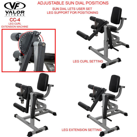 Valor Fitness CC-4 Leg Curl _ Extension Machine Features