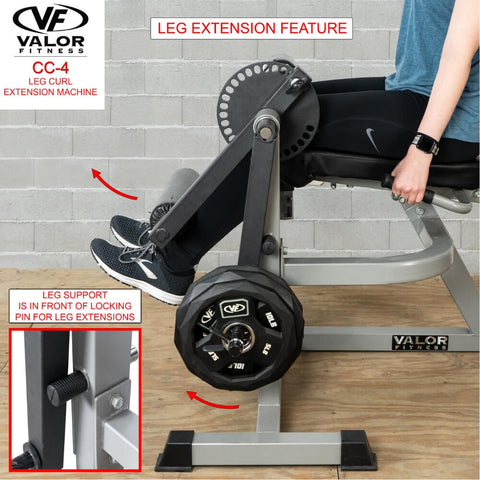 Valor Fitness CC-4 Leg Curl _ Extension Machine Leg Extension