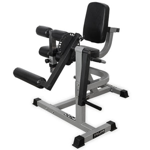 Valor Fitness CC-4 Leg Curl _ Extension Machine Top Front Side View