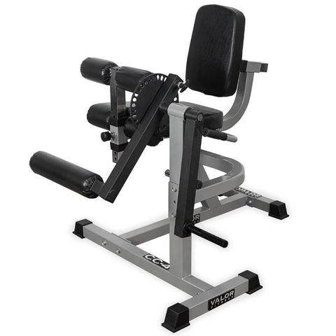 Image of Valor Fitness CC-4 Leg Curl _ Extension Machine Top Front Side View