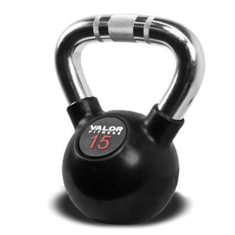 Image of Valor Fitness CKB Chrome Kettlebells 15 lbs Close Up