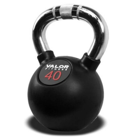 Image of Valor Fitness CKB Chrome Kettlebells 40 lbs Close Up