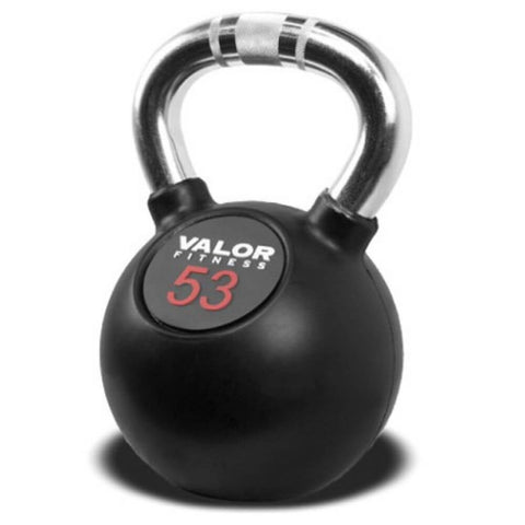 Image of Valor Fitness CKB Chrome Kettlebells 53 lbs Close Up