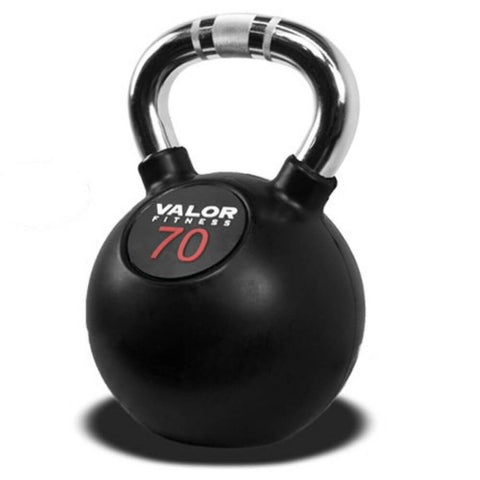 Image of Valor Fitness CKB Chrome Kettlebells 70 lbs Close Up