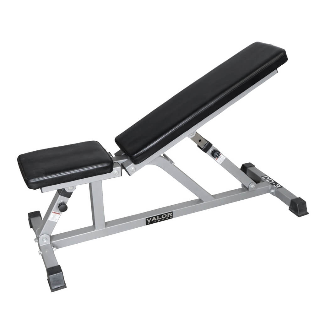 Valor Fitness DD-3 Incline_Flat Utility Bench 3D View