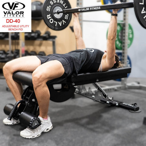 Image of Valor Fitness DD-40 ValorPRO Adjustable Utility Bench FID Adjustable FID