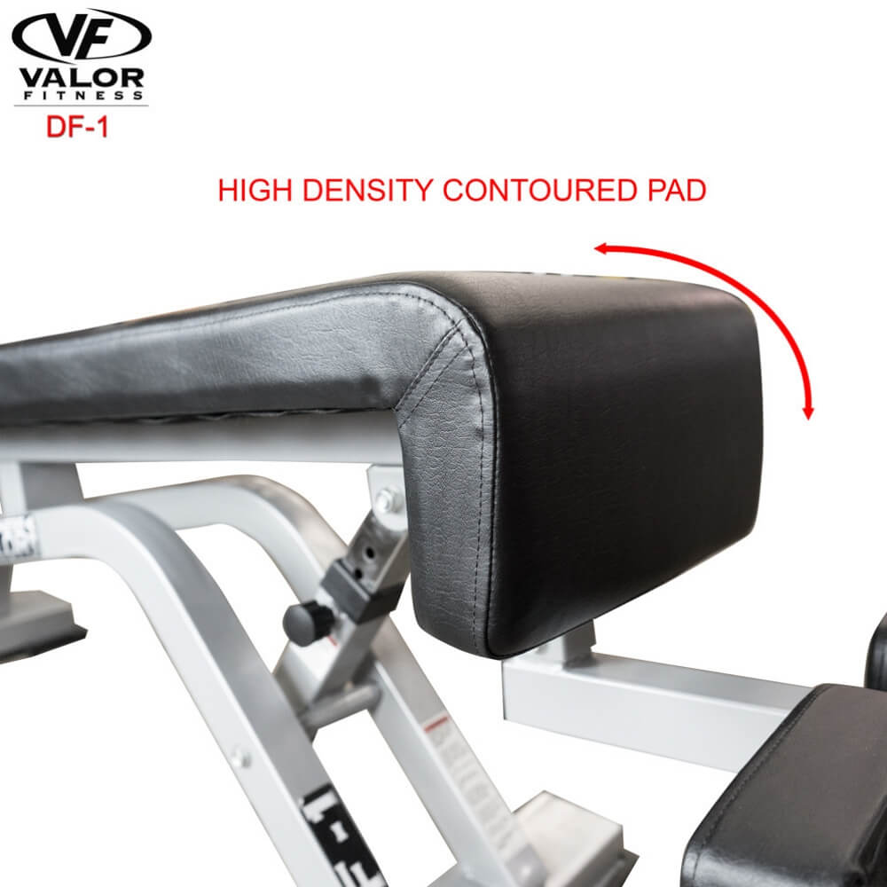 Valor Fitness DF-1 Decline_Flat Bench Pro Contoured Pad