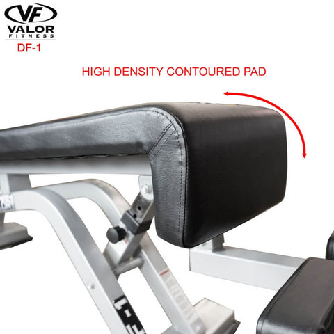 Image of Valor Fitness DF-1 Decline_Flat Bench Pro Contoured Pad