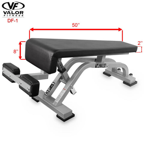 Image of Valor Fitness DF-1 Decline_Flat Bench Pro Dimension