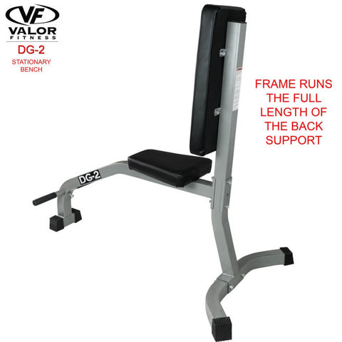 Image of Valor Fitness DG-2 Stationary Bench Back Support