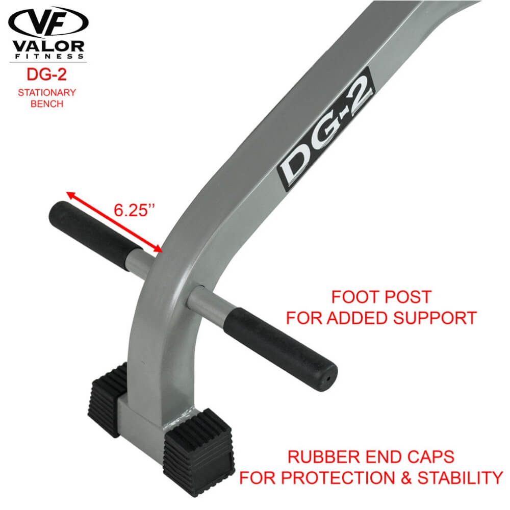 Valor Fitness DG-2 Stationary Bench Rubber End Caps