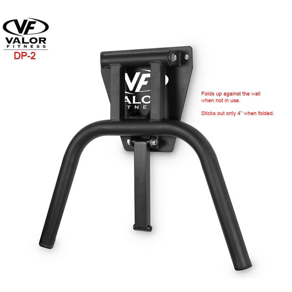 Valor Fitness DP-2 Wall Mount Dip Station Folded