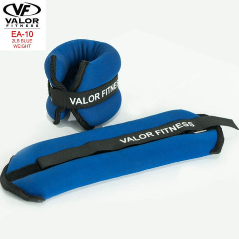 Image of Valor Fitness EA-10 2 lb Blue Weight (2) Lying