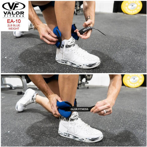 Image of Valor Fitness EA-10 2 lb Blue Weight (2) Strapping