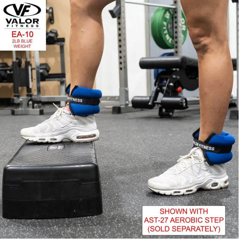 Image of Valor Fitness EA-10 2 lb Blue Weight (2) With Aerobic Step