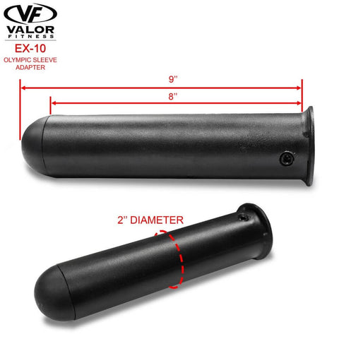 Image of Valor Fitness EX-10 Olympic Sleeve Adapter Dimensions