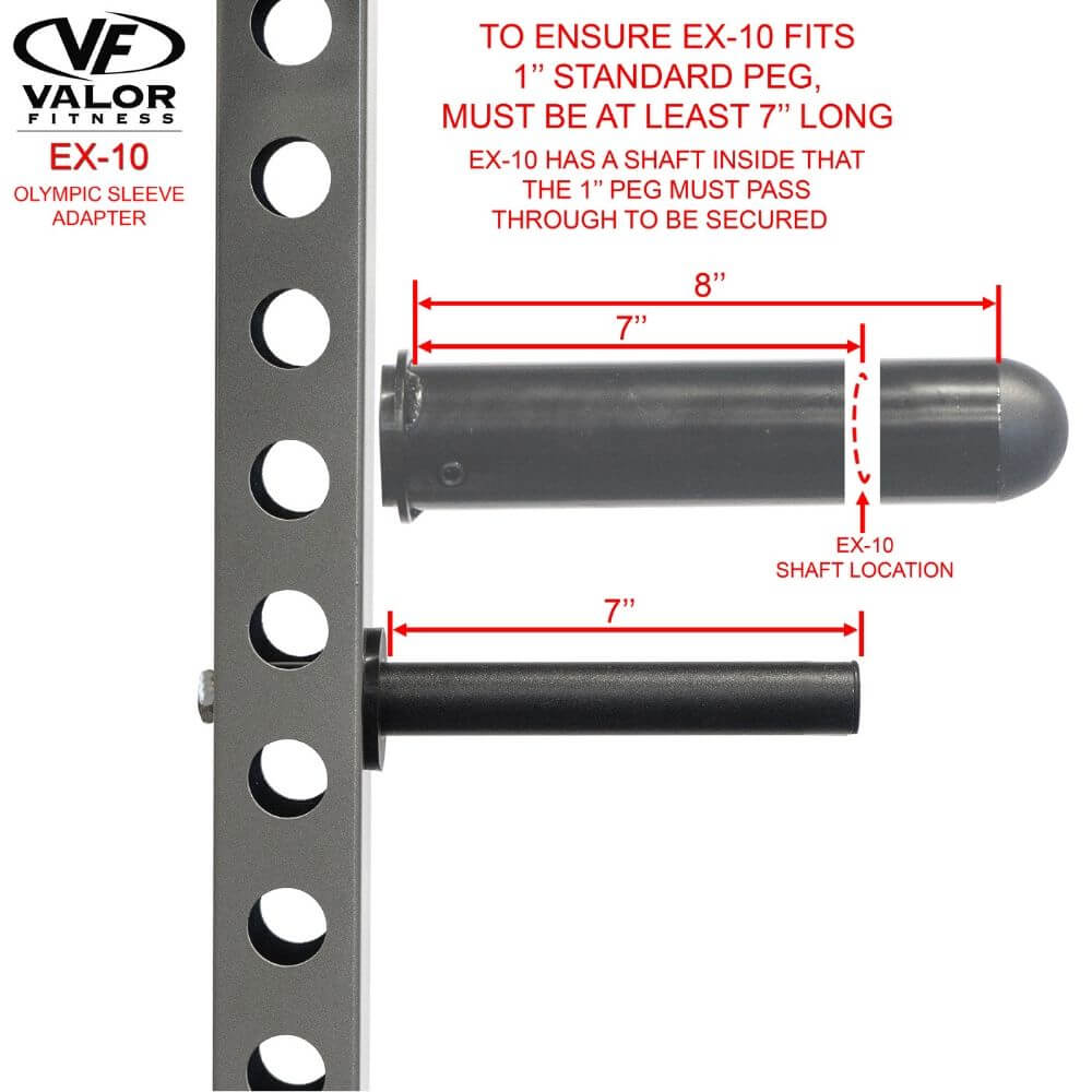 Valor Fitness EX-10 Olympic Sleeve Adapter Standard Peg