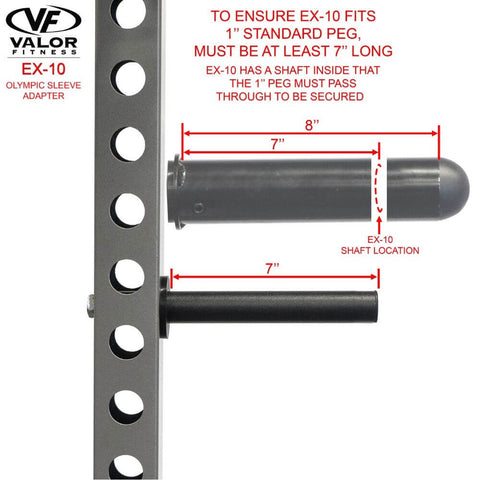Image of Valor Fitness EX-10 Olympic Sleeve Adapter Standard Peg