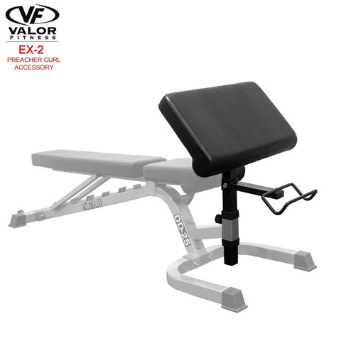 Image of Valor Fitness EX-2 Preacher Curl Accessory 3D View