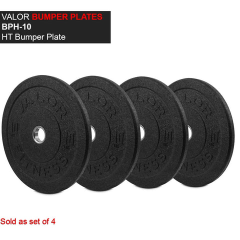 Valor Fitness HT Bumper Plates BPH 10 Lbs Front View