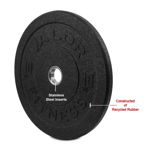 Image of Valor Fitness HT Bumper Plates BPH 10 Lbs Recycled Rubber