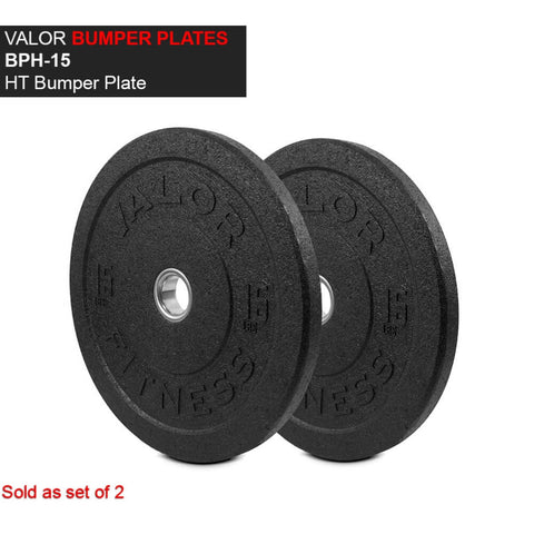 Valor Fitness HT Bumper Plates BPH 15 Lbs Front View