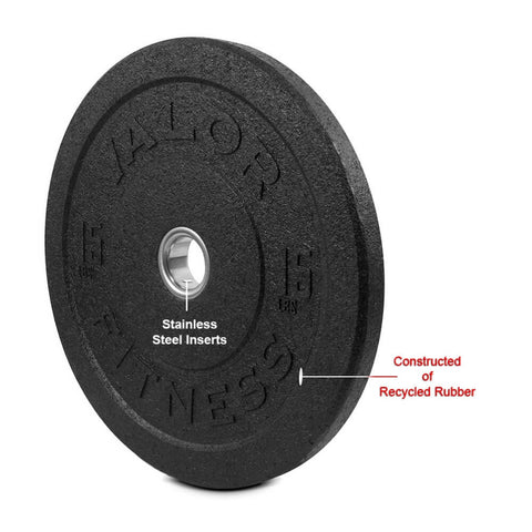 Image of Valor Fitness HT Bumper Plates BPH 15 Lbs Recycled Rubber