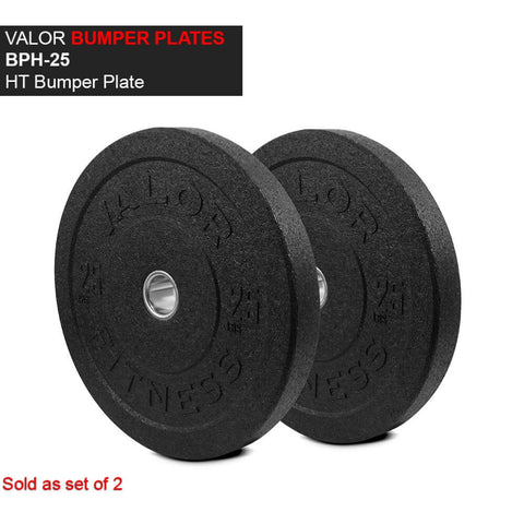 Valor Fitness HT Bumper Plates BPH 25 Lbs Front View