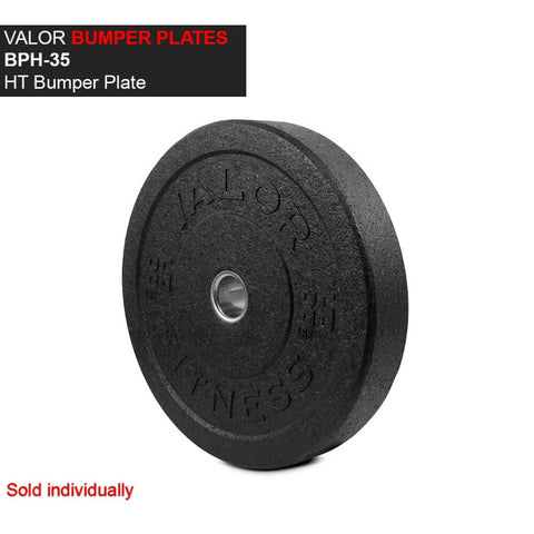 Valor Fitness HT Bumper Plates BPH 35 Lbs Front View