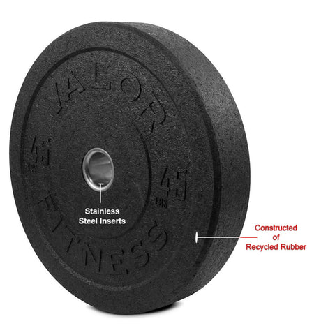 Image of Valor Fitness HT Bumper Plates BPH 45 Lbs Recycled Rubber