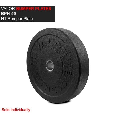 Valor Fitness HT Bumper Plates BPH 55 Lbs Front View