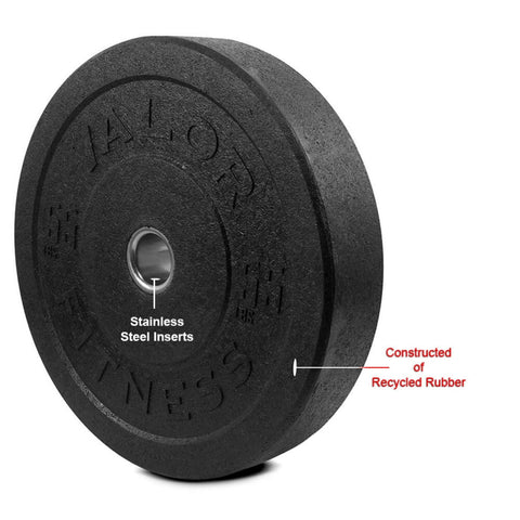 Image of Valor Fitness HT Bumper Plates BPH 55 Lbs Recycled Rubber