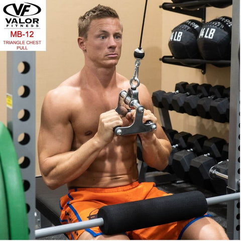 Valor Fitness MB-12 Triangle Chest Pull Cable Attachment Pulling