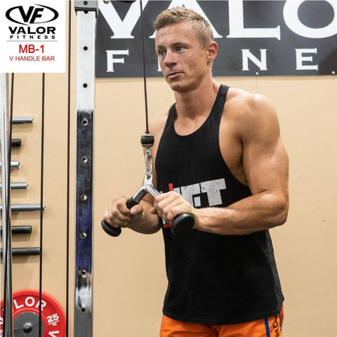 Image of Valor Fitness MB-1 V-Handle Bar Pulling Half Stretch