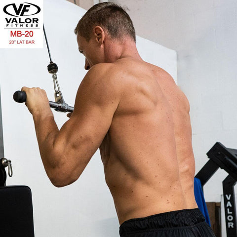 Image of Valor Fitness MB-20 20_ Lat Bar Back View