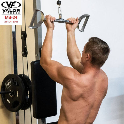 Valor Fitness MB-24 24_ Straight Lat Back View