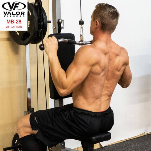 Image of Valor Fitness MB-28 28_ Lat Bar Back View