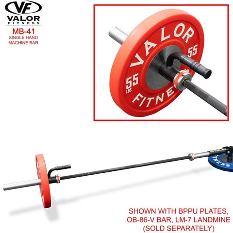 Image of Valor Fitness MB-41 Single Hand Machine Bar With BPPU Plates