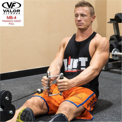 Valor Fitness MB-4 Triangle Chest Pull Front View Facing Left