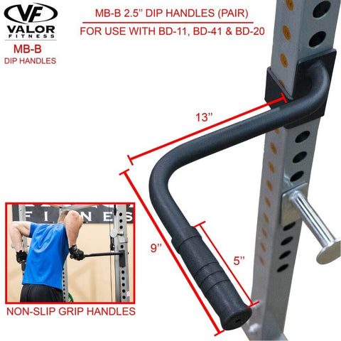 Image of Valor Fitness MB-B BD-11 Dip Handles Non Slip Grip Handles