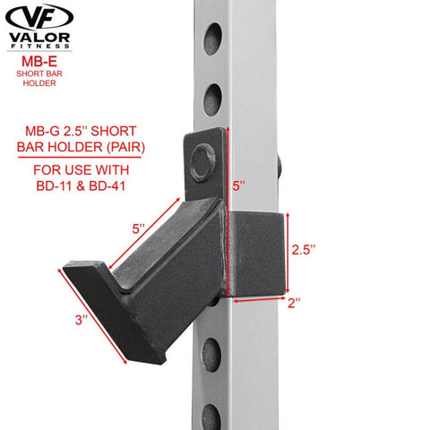 Image of Valor Fitness MB-G BD-11 Short Bar Holder Dimension